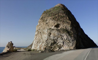 Mugu Rock near Oxnard on the Pacific Coast Highway